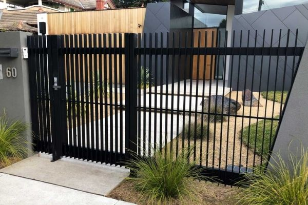 new metal gate with entry code system